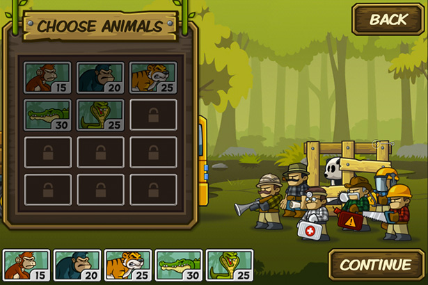 Choose animal - Side-scrolling defense game for iPhone, game for iPad, game apps for Android