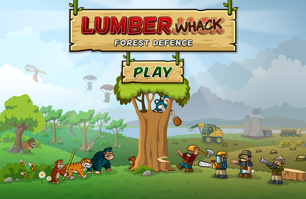 Side-scroller defense game Lumberwhack on PGR