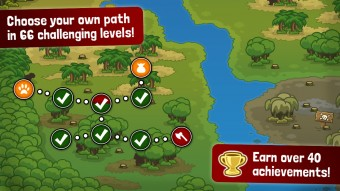 Challenging levels - Side-scrolling defense game for iPhone, game for iPad, game apps for Android