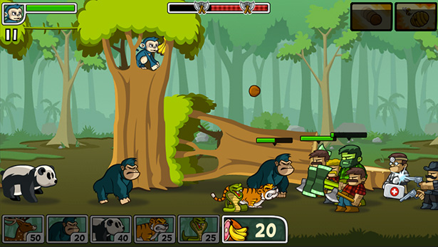 Side Scroller Defense Game For Mobile Lumberwhack In